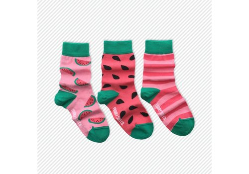 Friday Sock Co. Watermelon Mismatch Kids Socks