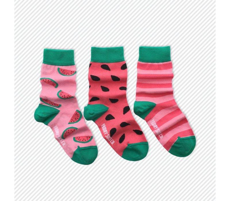 Watermelon Mismatch Kids Socks