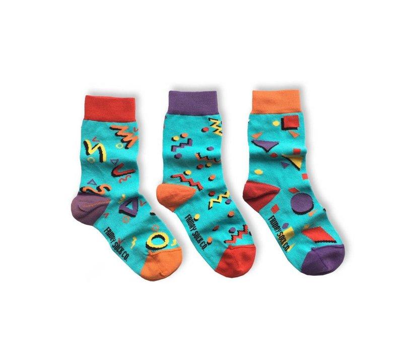 Totally 80s Mismatch Kids Socks