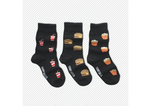 Friday Sock Co. Burger & Fries Mismatch Kids Socks