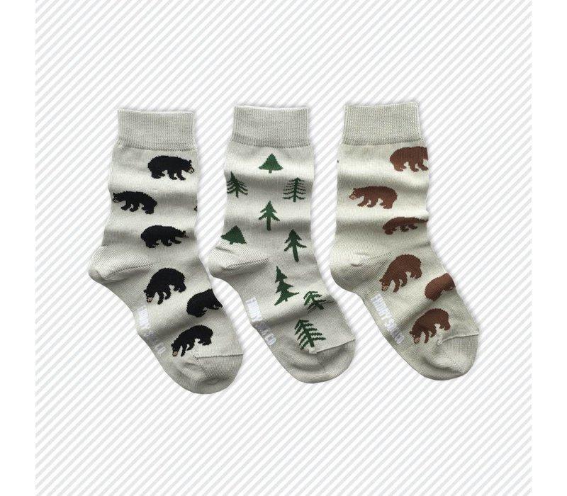 Woods Mismatch Kids Socks