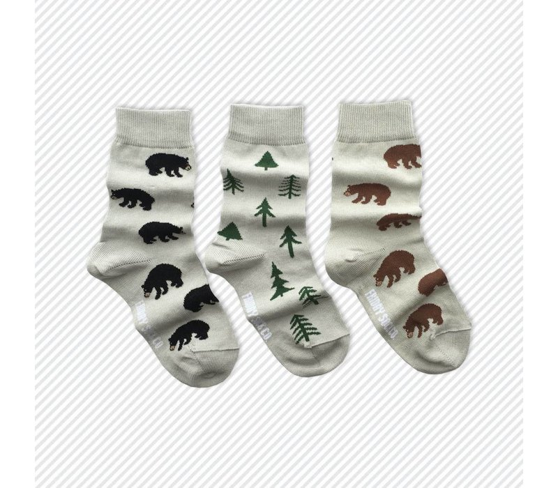 Forest Mismatch Kids Socks