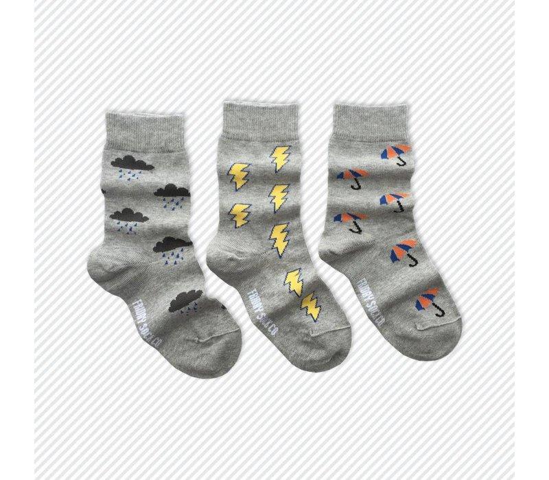 Rainy Day Mismatch Kids Socks