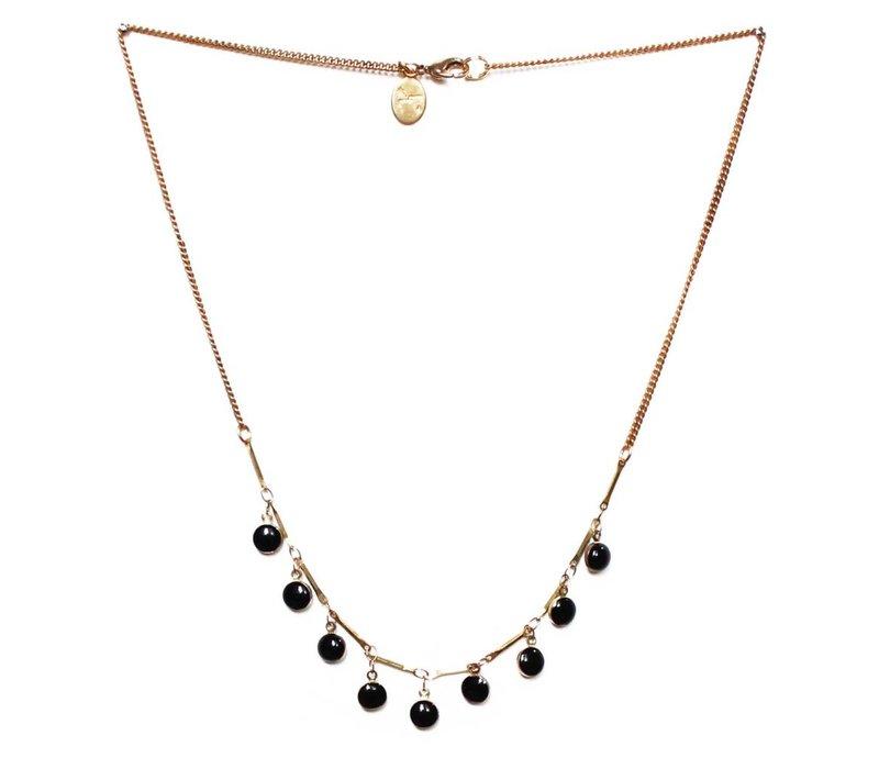 Black Drops Necklace