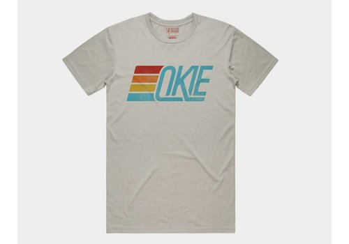 Shop Good Okie Track Tee Light Grey