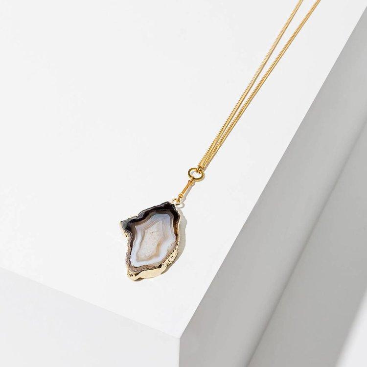 Larissa Loden Golden Drusy Necklace