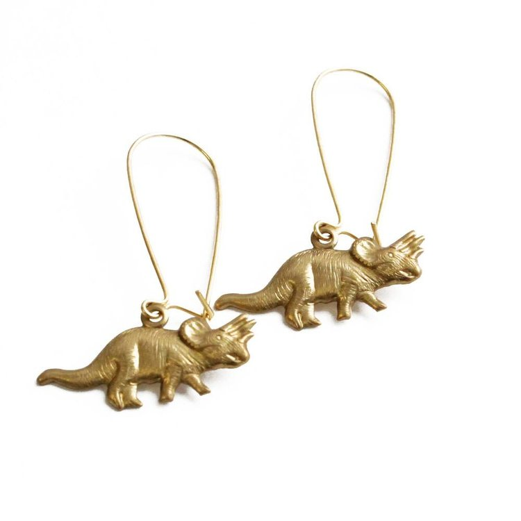 Larissa Loden Triceratops Earrings