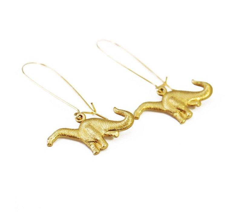 Brontosaurus Earrings