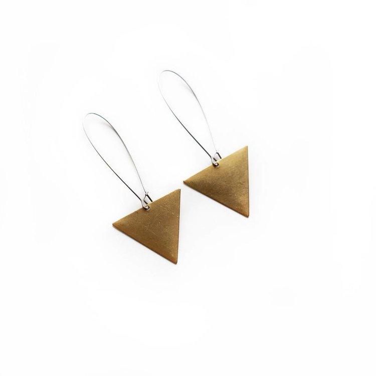 Larissa Loden Triangle Drop Earrings