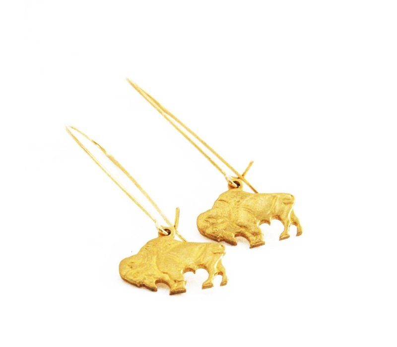 Bison Earrings