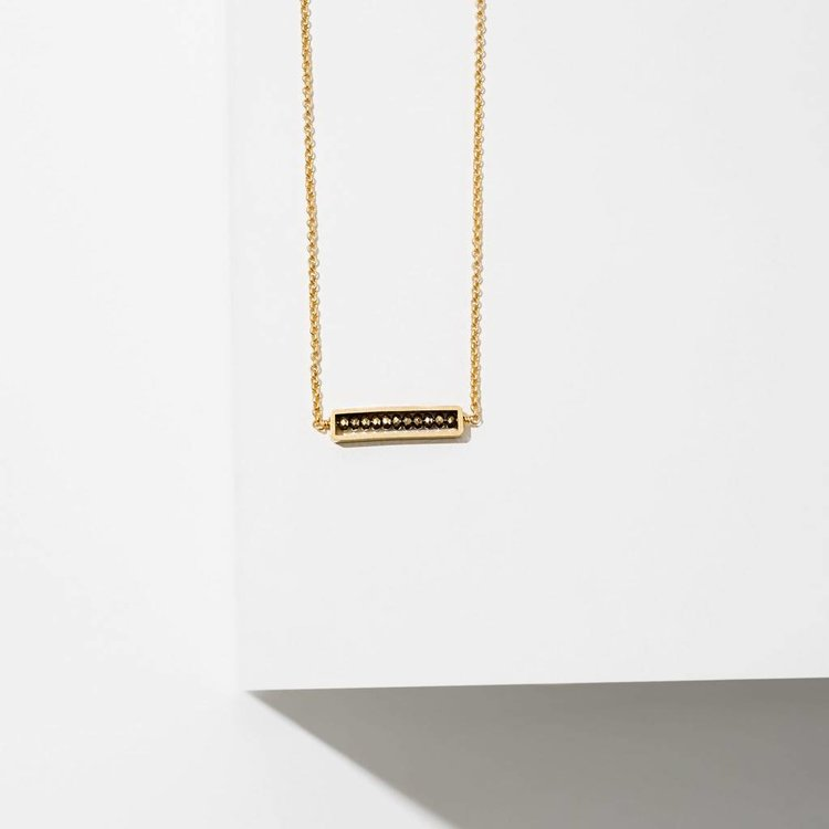 Larissa Loden Abacus Necklace Pyrite