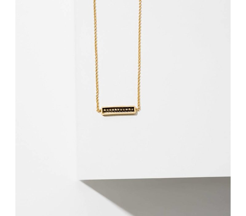 Abacus Necklace Pyrite