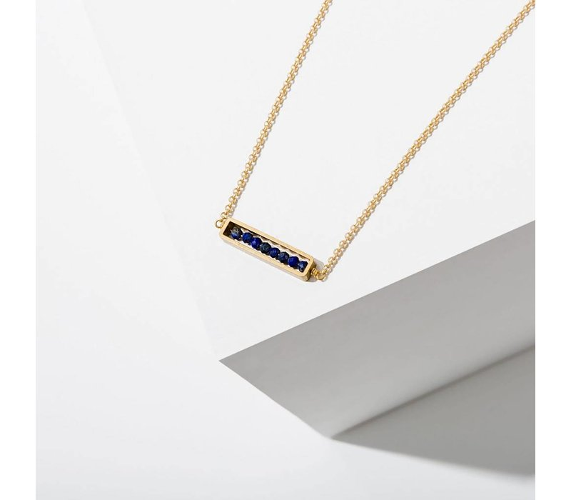 Abacus Necklace Lapis