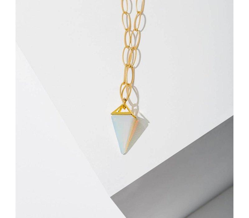 Stone Pyramid Necklace