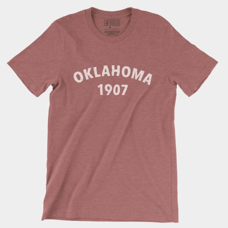 Shop Good Oklahoma Heritage Tee Heather Mauve