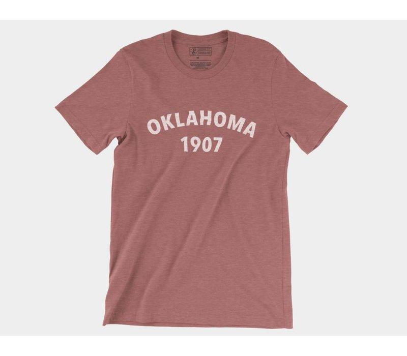 Oklahoma Heritage Tee Heather Mauve