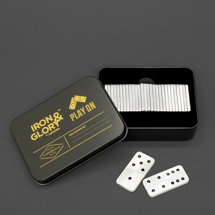 Iron & Glory Play On Mini Travel Domino Set
