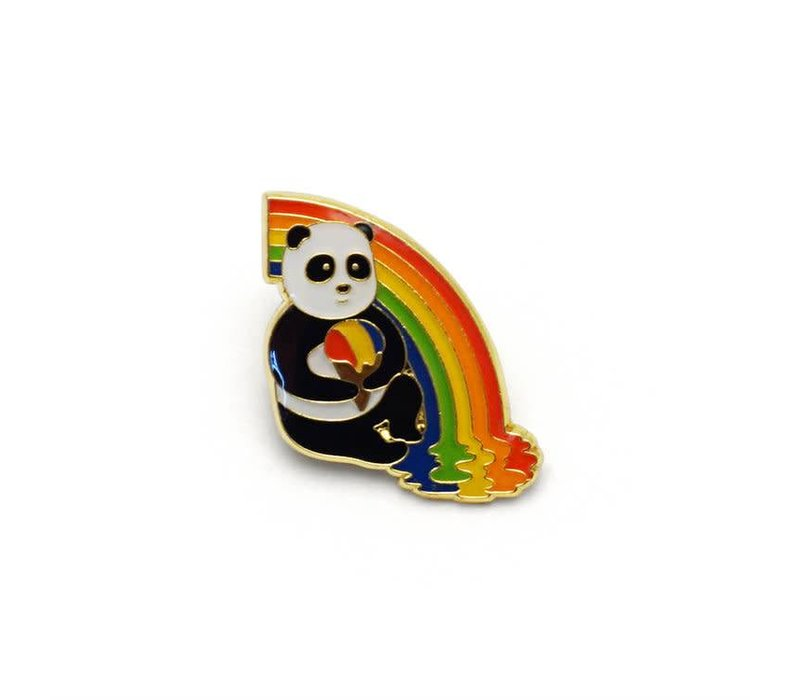 Panda Rainbow Snow Cone Enamel Pin