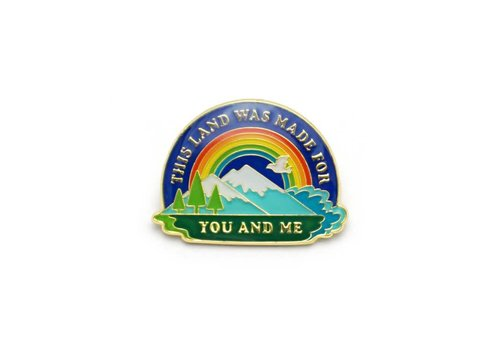Lucky Horse Press This Land Is Your Land Enamel Pin