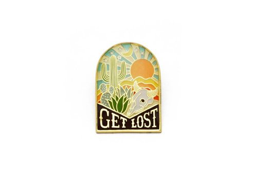 Lucky Horse Press Get Lost Enamel Pin