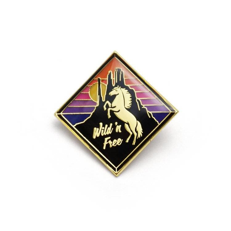Lucky Horse Press Mustang Enamel Pin