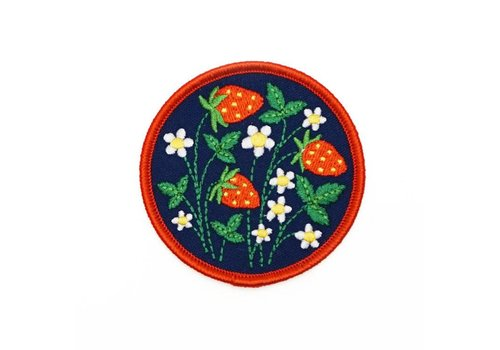 Lucky Horse Press Strawberry Fields Embroidered Patch