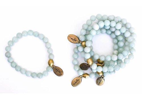 Often Wander Beaded Bracelet - Angelite