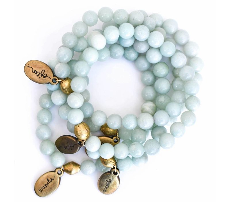 Beaded Bracelet - Angelite