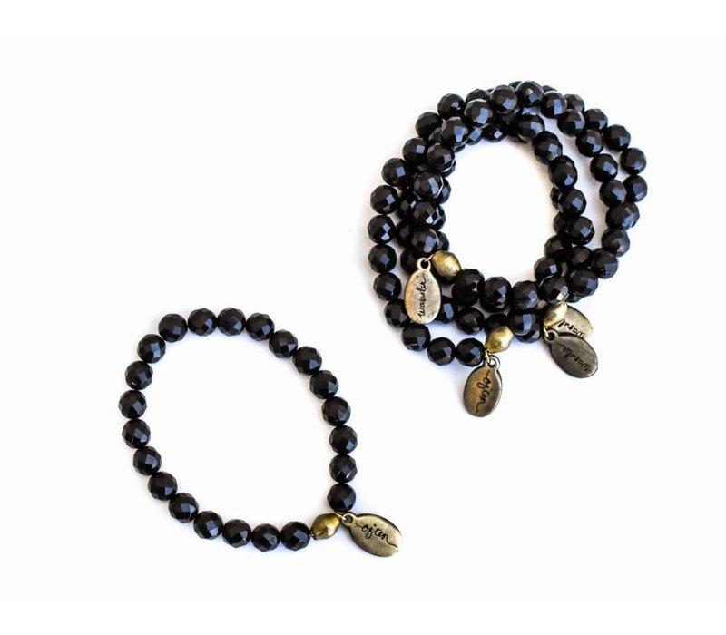 Beaded Bracelet - Black Agate