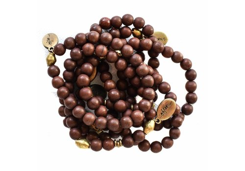Often Wander Beaded Bracelet - Brown Howlite