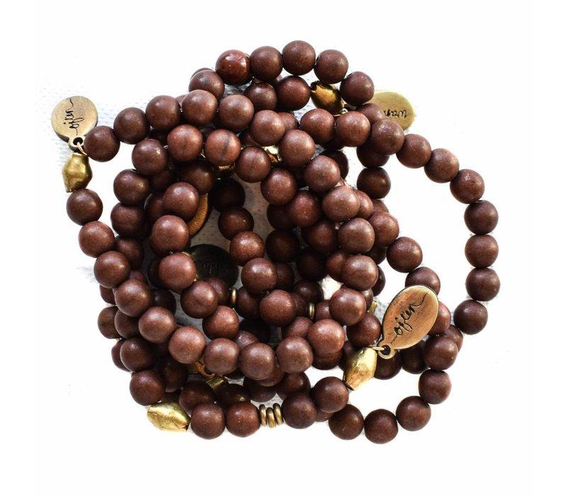 Beaded Bracelet - Brown Howlite