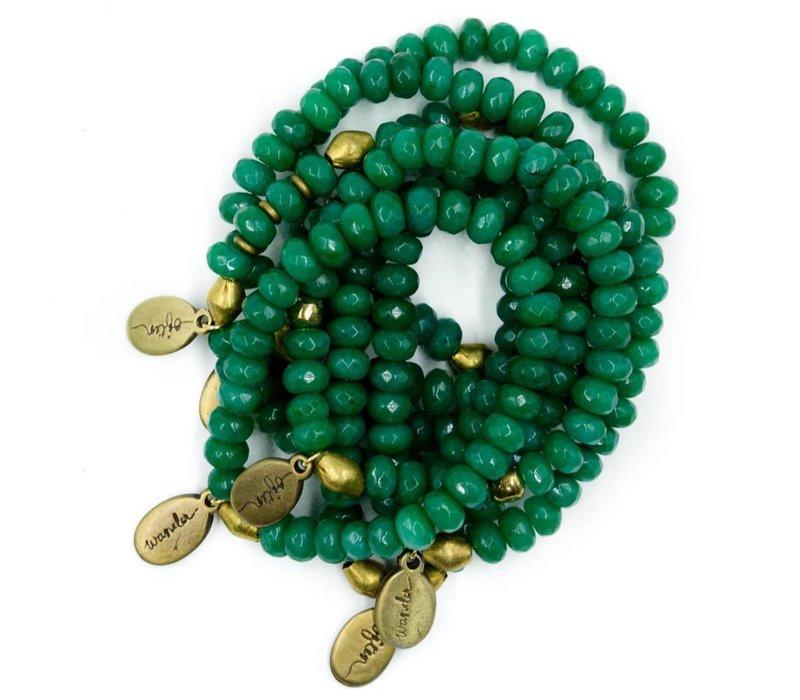 Beaded Bracelet - Forest Green Jade