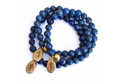 Often Wander Beaded Bracelet - Lapis Lazuli