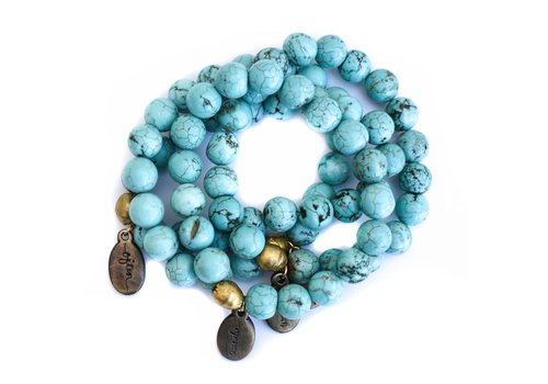 Often Wander Beaded Bracelet - Turquoise