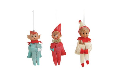 Creative Co-op Retro Elf Ornament