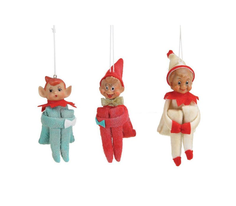 Retro Elf Ornament