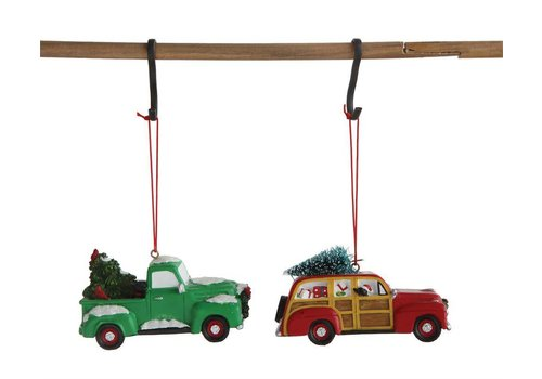 Creative Co-op Holiday Wagon Ornament