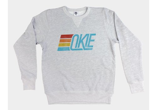 Shop Good Okie Track Pullover Sweatshirt Heather Grey