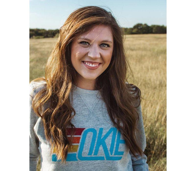 Okie Track Pullover Sweatshirt Heather Grey