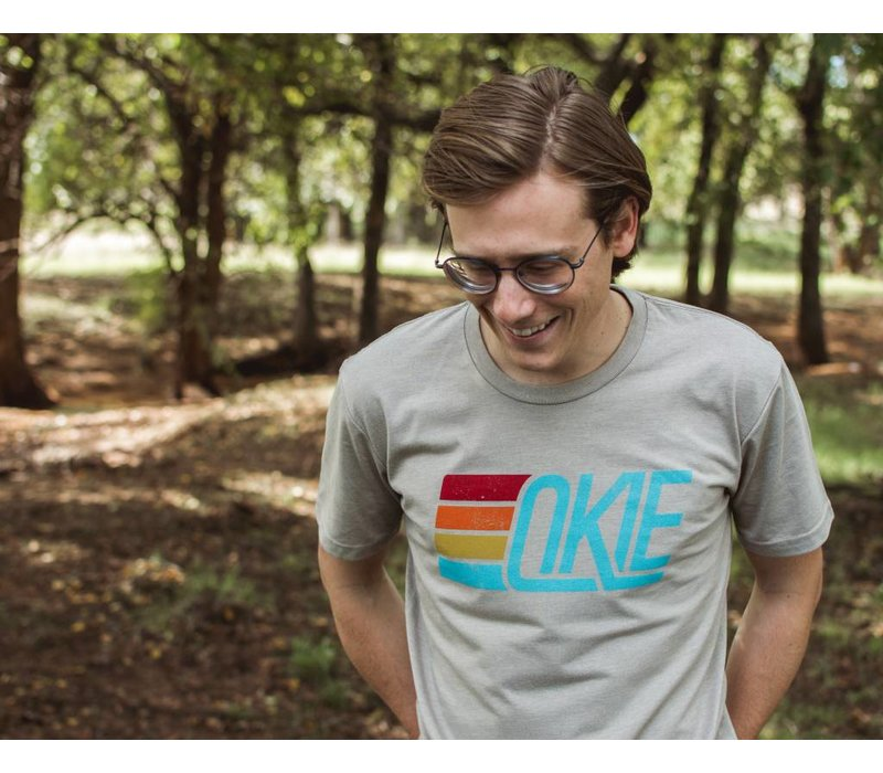 Okie Track Tee Light Grey