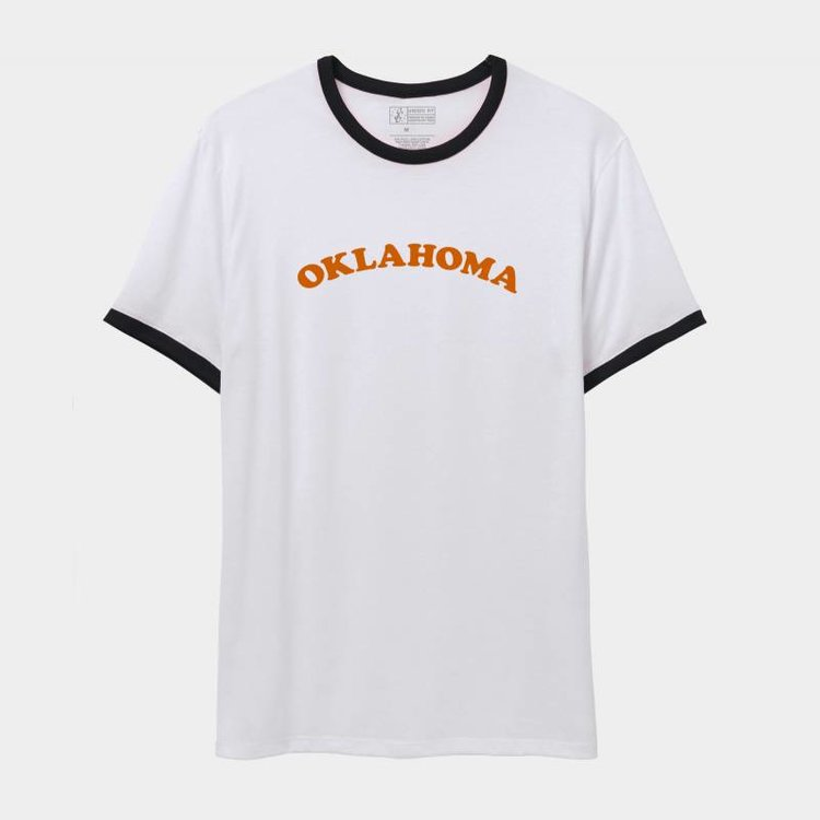 Shop Good Oklahoma Throwback Ringer Tee Orangelo