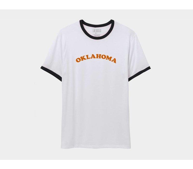 Oklahoma Throwback Ringer Tee Orangelo