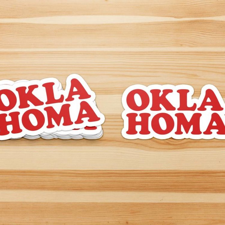 Shop Good Oklahoma Throwback Sticker