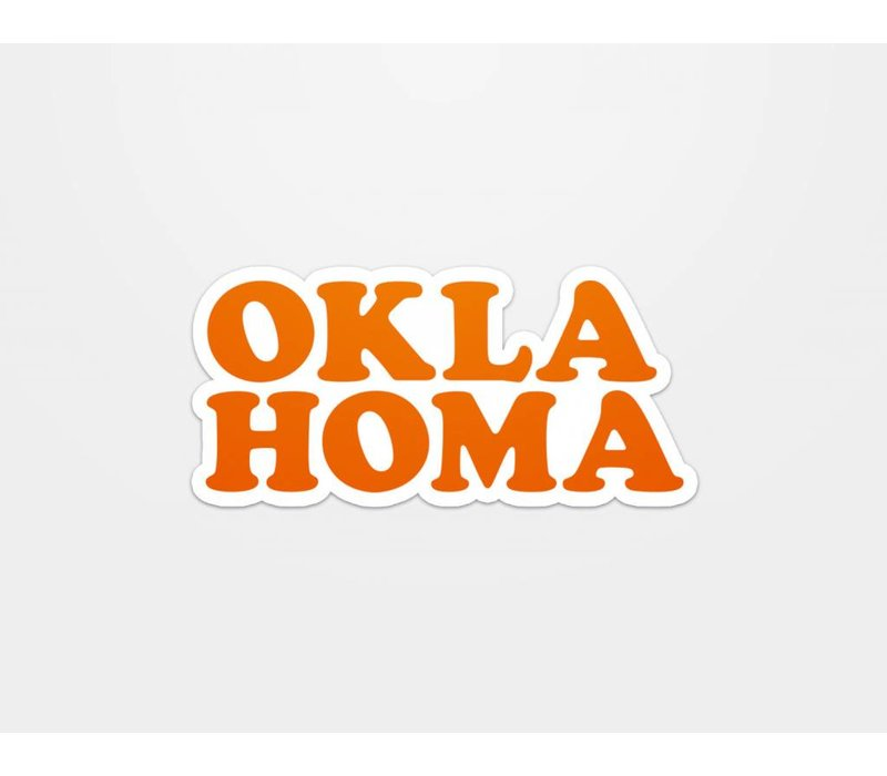 Oklahoma Throwback Sticker