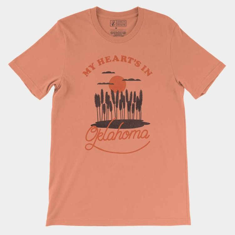 Shop Good My Heart's In Oklahoma Tee