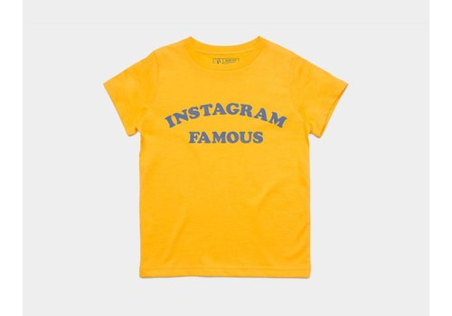 Shop Good Instagram Famous Kids Tee Gold