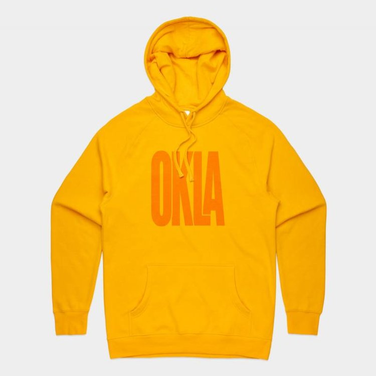 Shop Good Sunny Oklahoma Pullover Hoodie Gold