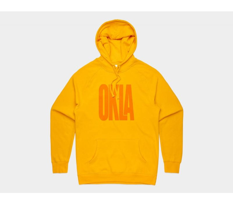 Sunny Oklahoma Pullover Hoodie Gold