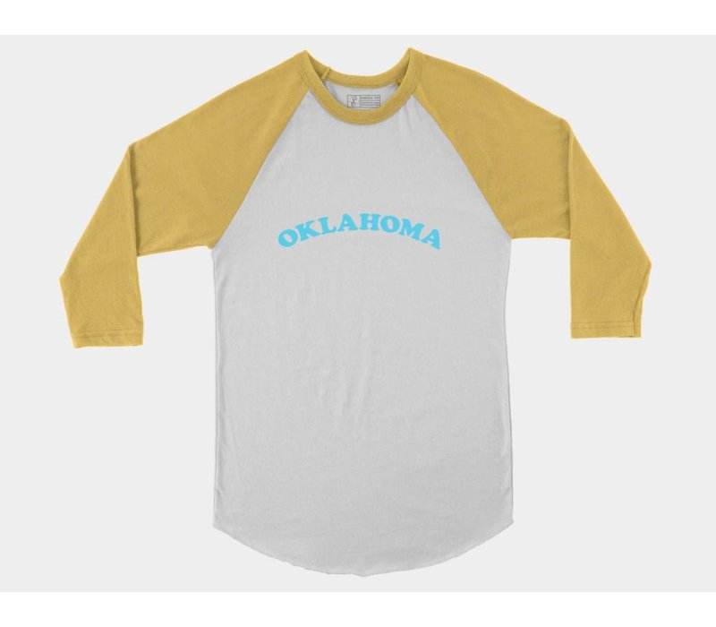 Oklahoma Throwback Baseball Tee Fruity Pebbles