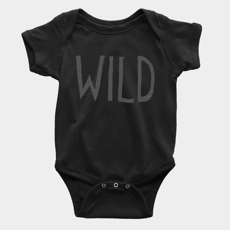 Shop Good Wild Kids Onesie Black